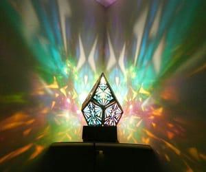 light, prism, and rainbow image