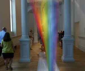 art gallery, thread, and art installation image