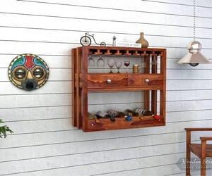 wine cabinet design and wine rack desidn image