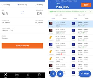 flight ticket booking and cleartrip app image