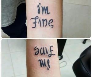 tattoo, black, and help image