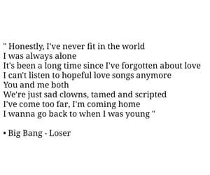 kpop, Lyrics, and loser image
