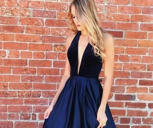 beauty, trends, and v neck prom dresses image