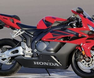 bikers, Honda, and red and black image