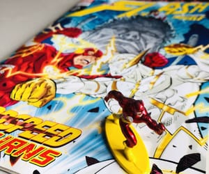 books, flash, and superhero image