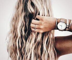 accessories, blonde hair, and boho image