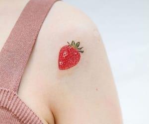morango, tattoo, and strawberry image