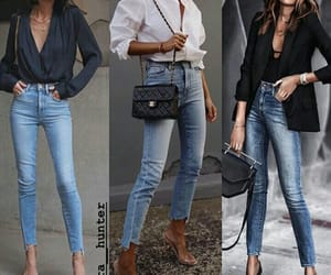 chic, work, and jeans image