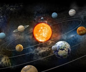 earth, planets, and solar system image
