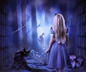 alice in wonderland, Cheshire cat, and we're all mad here image
