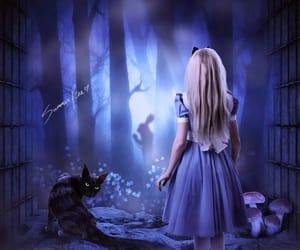 alice in wonderland, Cheshire cat, and curiosity image