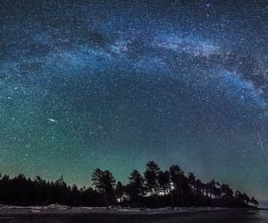 earth, milky way, and stars image