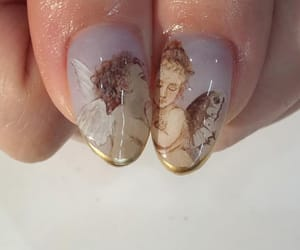 nails, aesthetic, and angel image