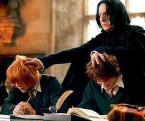 harry potter, snape, and ron image