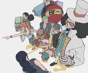 one piece, strawhat pirates, and mugiwara image