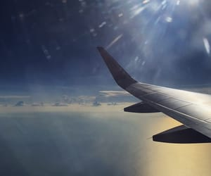 beautiful, air asia, and flight image