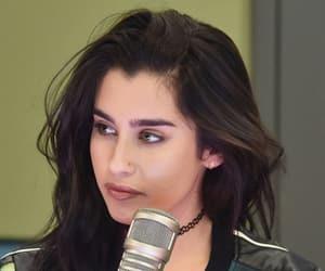 eyebrows, green, and latina image