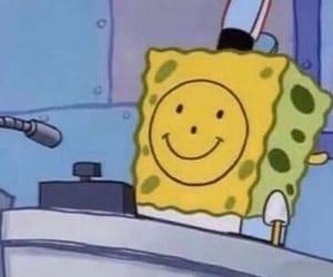 spongebob, cartoon, and sad image