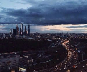city, light, and moscow image
