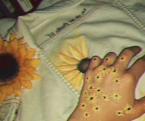 sunflower, aesthetic, and art image