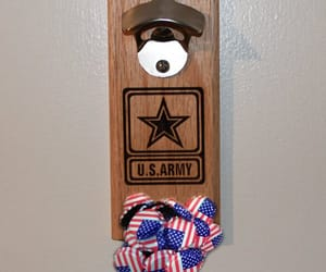 beer, us army, and man cave image
