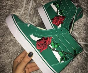 shoes, rose, and vans image