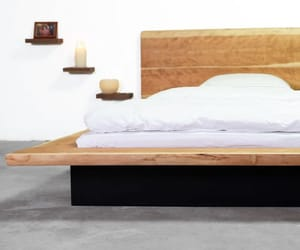 bedframe, wood bed, and twin bed image
