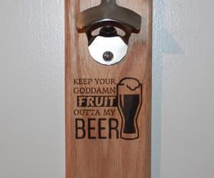 beer, bottle opener, and fruit image