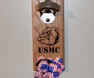 beer, USMC, and man cave image