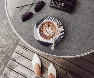 cafe, chanel, and coffee image