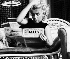 black & white and Marilyn Monroe image