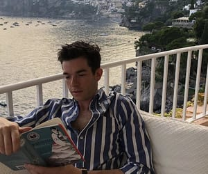 beach, blue, and john mulaney image