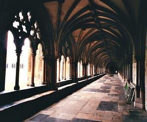 hogwarts, harry potter, and vintage image