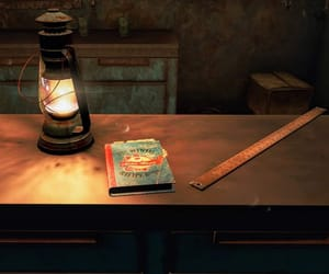 book, kitchen, and fallout image