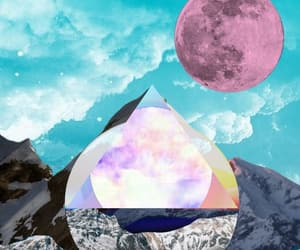 abstract art, art, and mountain image