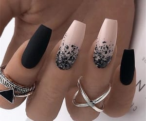 nails, black, and design image