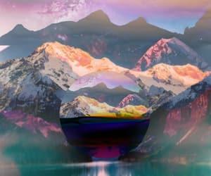 digital art, minimalism, and mountains image