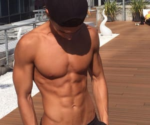 abs, handsome, and boy image