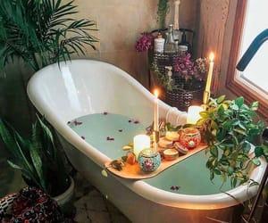 bath, bathroom, and candles image