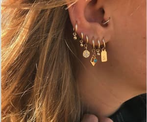 accessoires, blonde, and earrings image