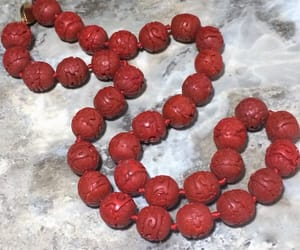 etsy, red beads, and free shipping image
