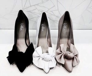 black, shoes, and white image