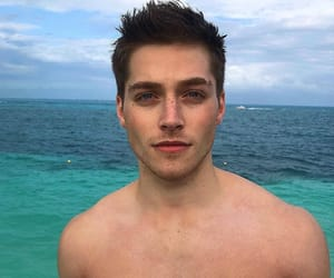 beach, blue, and blue eyes image