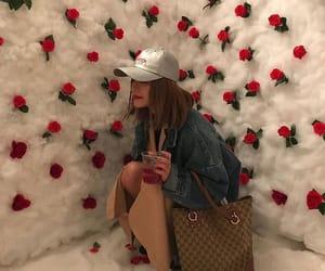girl, rose, and ulzzang image