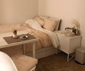 aesthetic, bedroom, and brown image