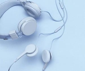 blue, headphones, and aesthetic image