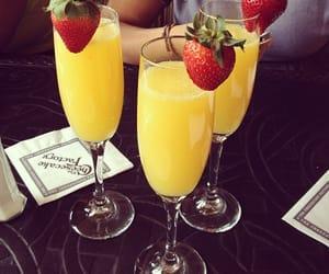 cocktail, orange juice, and yummy image