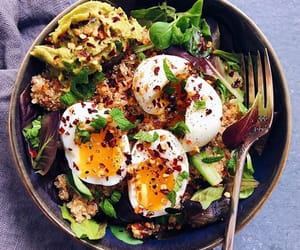 bowl, eggs, and fit image