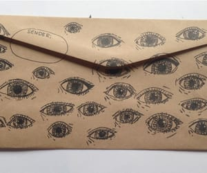 eyes, drawing, and envelope image