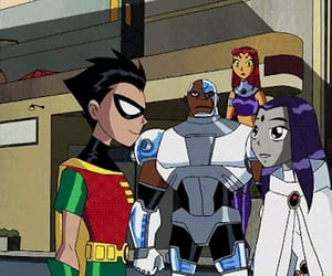 cyborg, hugs, and raven image